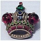 Trifari Alfred Philippe small cabochon crown pin
