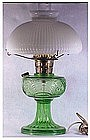 Aladdin Washington Drape oil lamp- green ( electrified)