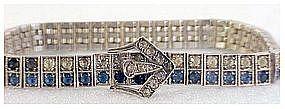 Sterling Diamonbar 2 row buckle bracelet