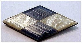 Art Deco bakelite lucite geometric diamond shape brooch
