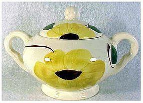 Ridge Daisy Blue Ridge So Pott sugar bowl & lid