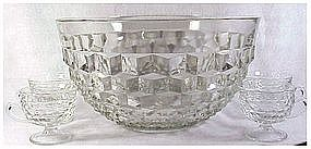 Whitehall- clear by Colony Punch bowl,ladle,cups