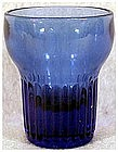 "Cobalt whiskey glasses (2 1/4"")-Depression era"