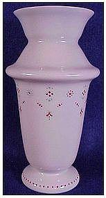 Opaline Bristol glass vase- English