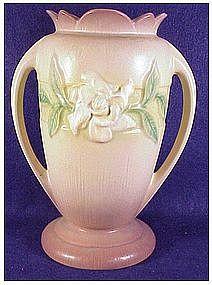 Roseville Gardenia vase # 686-10 silver haze gray
