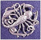 Cini sterling: Zodiac Scorpio Pin (Oct 24-No 21)