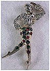 "Boucher ""Ballet of Jewels"" ""Carnival"" harlequin pin"