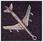 Plane, 747 Jumbo Jet Charm - Sterling Silver-3 D