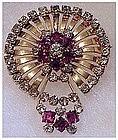 Multi dimensional rhinestone pin / pendant/ brooch