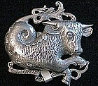 Cini sterling: Zodiac Taurus pin (April 20th-May 20th)