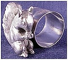 Barbour large squirrel eats a nut seated napkin holder