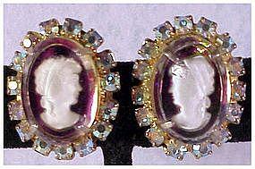 Juliana reverse carved intaglio earrings