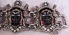 Africana Tribal Head link bracelet  -1940's-Reja