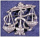 Cini sterling: Zodiac Libra pin -Sept 23 -Oct 23