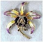 Corocraft sterling orchid pin (Adolf Katz)