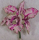 Shoemaker & Picering orchid enamel pot metal trembler