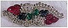 Trifari 'Alfred Philippe' Tricolor clipmate dress clips