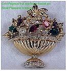 Coro Pegasus Jeweled fruit & flower urn (A. Katz)
