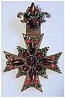 Florenza pin with hanging maltese cross