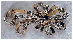 Boucher  Phrygian Cap Sterling vermeil retro ribbon pin