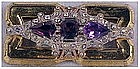 McClelland Barclay rhinestone brooch(Art Deco) Amethyst