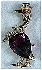 Reja sterling amethyst belly Father  Goose & umbrella