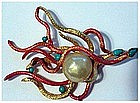Cadoro double snake two toned with baroque pearl