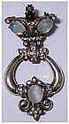 Corocraft sterling jelly belly door knocker pin brooch