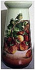 Z.S. & Co basket of strawberries Bavarian vase