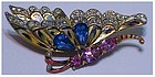 Corocraft sterling Alfred Philippe butterfly pin
