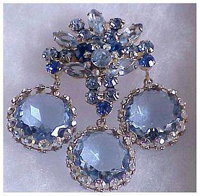 Juliana framed disk dangle pin- blue