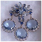 Juliana framed disk dangle pin- blue