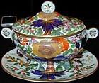 "Coalport porcelain sauce tureen, ""Bow"" pattern, c.1810"