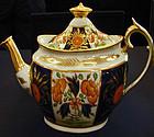 """Coalport porcelain teapot """"crab"""" pattern, c.1810"""