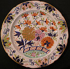 "Mason's Ironstone Dinner Plate with ""Gold Rose"" Patter"