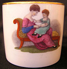 Machin Porcelain Can with Mother and Child