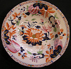 "Hicks & Meigh Ironstone Soup Plate in ""Waterlily"" Patt"