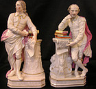 Derby Figures of Milton and Shakespeare, Circa 1790