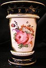 Coalport Porcelain Floral Spill Vase with beading