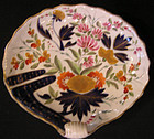 "Coalport Porcelain Shell Footed Dish, ""Bow and Finger"""