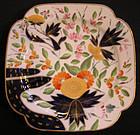 Coalport Porcelain Square Dessert Plate, Finger Pattern