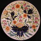 Chamberlain Worcester Dinner Plate, Bow pattern variant