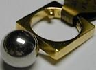 "18K gold & Platinum Ring marked ""Cartier"", 20th century"