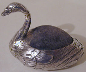 pin cushion in the form of an swan c1890