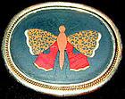 Brooch of a Pietra Dura Butterfly, Ca 1860