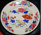 Chamberlain Worcester porcelain plate, Ca 1815