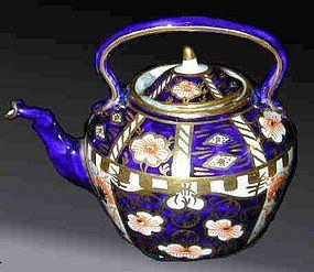 Royal Crown Derby miniature tea kettle & lid