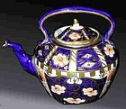 Royal Crown Derby miniature tea kettle & lid