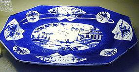"Bow large ""Powder Blue"" Platter, Ca 1765"