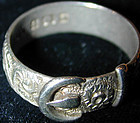 Buckle form Ring, sterling Hallmarked Birmingham, 1900
